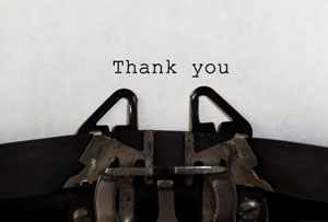 Thanks and gratitude go a long way in business